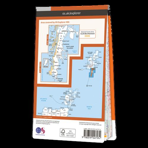 Map of Shetland - Mainland South