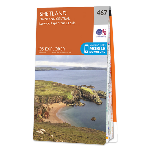 Map of Shetland - Mainland Central