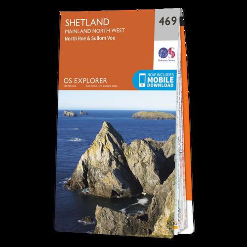 Map of Shetland - Mainland North West