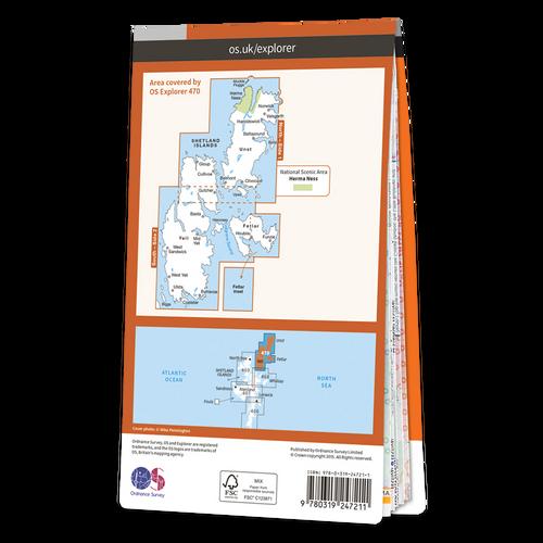 Map of Shetland - Unst, Yell & Fetlar