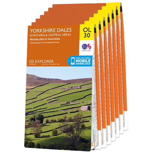 OS Explorer Pennine Journey map set