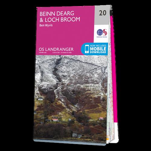 Map of Beinn Dearg & Loch Broom