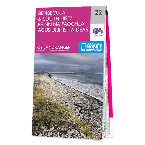 Map of Benbecula & South Uist