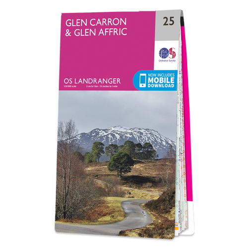 Map of Glen Carron & Glen Affric