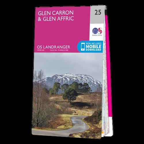 Map of Glen Carron & Glen Affric
