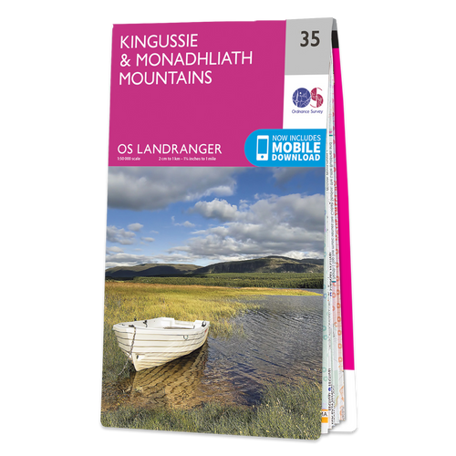 Map of Kingussie & Monadhliath Mountains