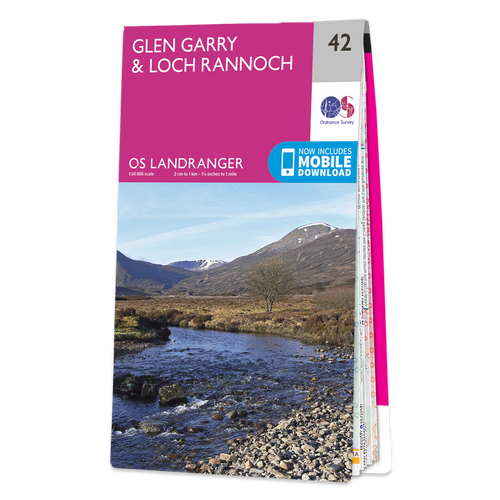 Map of Glen Garry & Loch Rannoch
