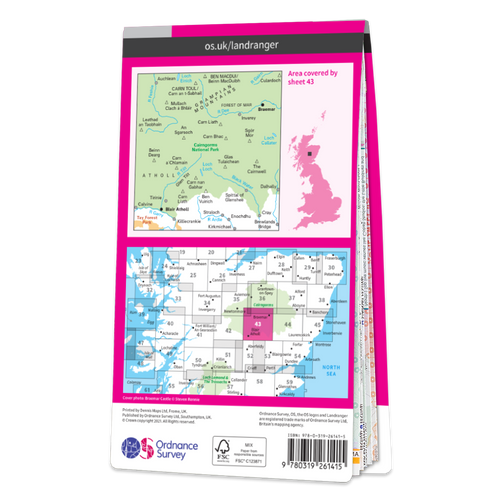 Map of Braemar & Blair Atholl
