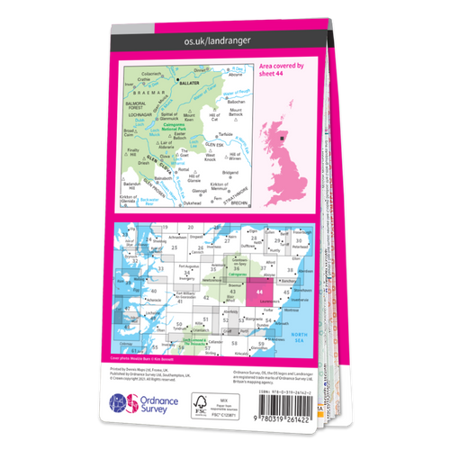 Map of Ballater & Glen Clova