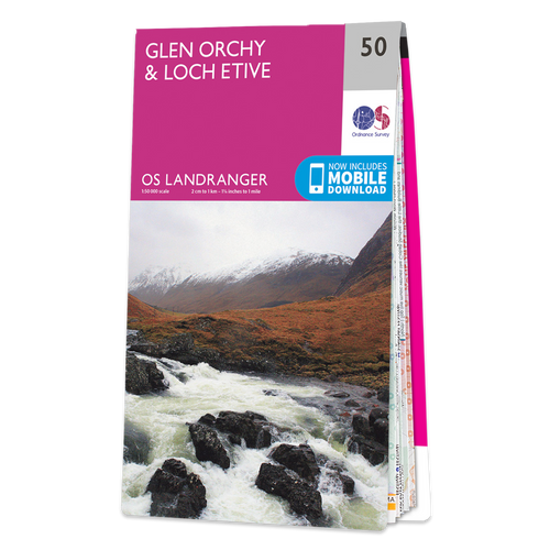 Map of Glen Orchy & Loch Etive