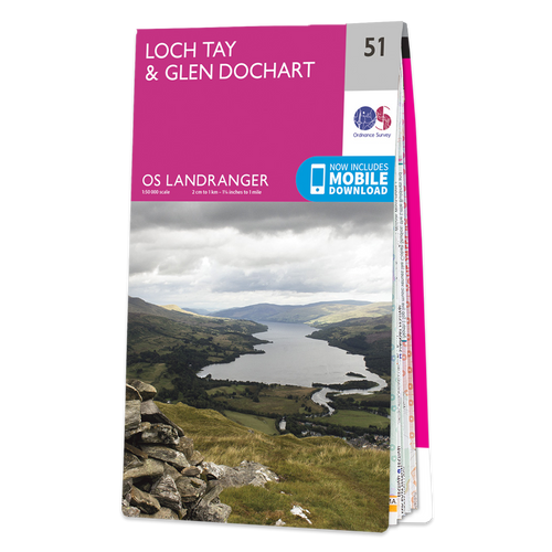 Map of Loch Tay & Glen Dochart