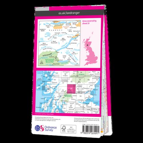 Map of Loch Tay & Glen Dochart