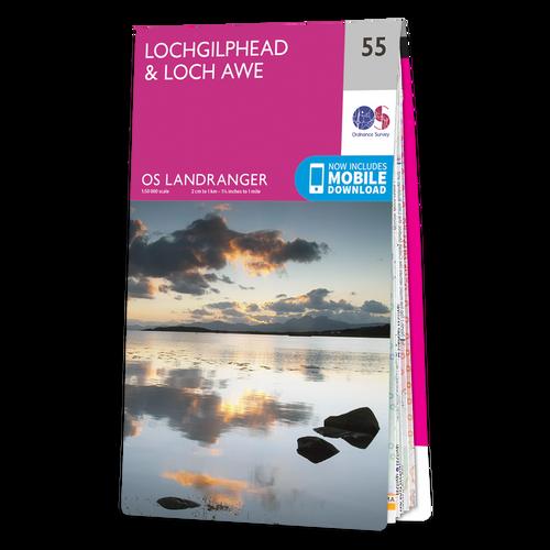 Map of Lochgilphead & Loch Awe