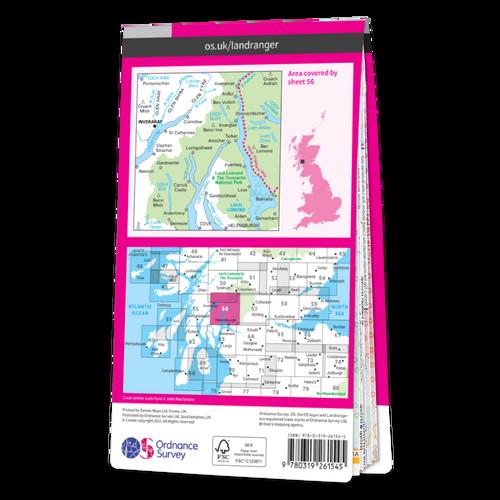 Map of Loch Lomond & Inveraray
