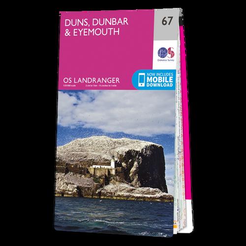 Map of Duns, Dunbar & Eyemouth