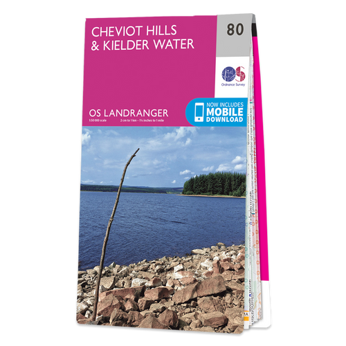 Map of Cheviot Hills & Kielder Water