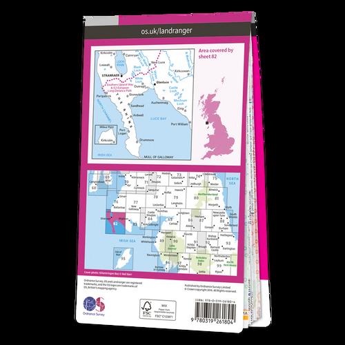 Map of Stranraer & Glenluce