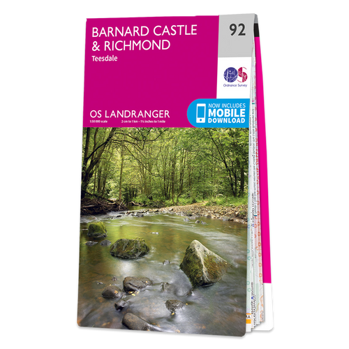 Map of Barnard Castle & Richmond