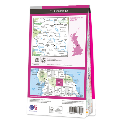 Map of Northallerton & Ripon