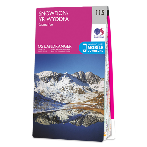 Map of Snowdon - Caernarfon