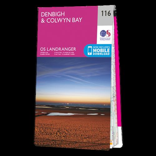 Map of Denbigh & Colwyn Bay