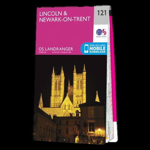 Map of Lincoln & Newark-on-Trent