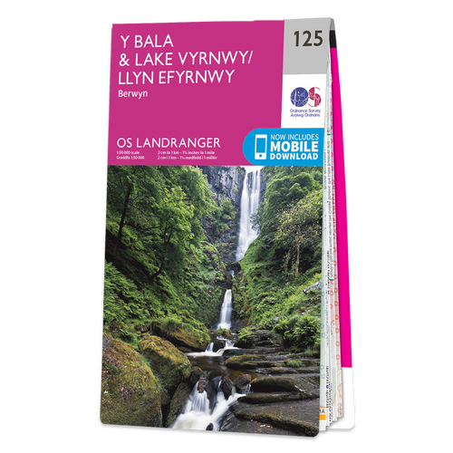 Map of Bala & Lake Vyrnwy