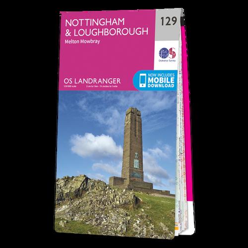 Map of Nottingham & Loughborough