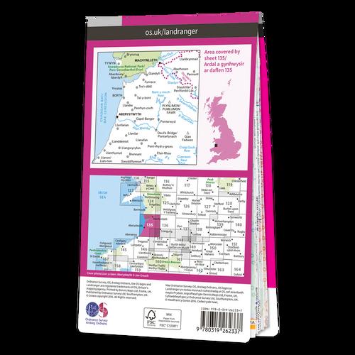 Map of Aberystwyth & Machynlleth
