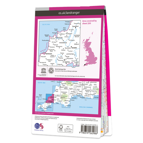 Map of Newquay & Bodmin