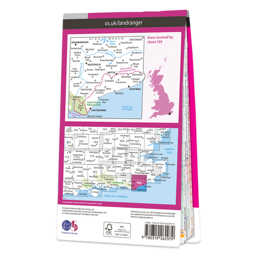Map of Eastbourne & Hastings