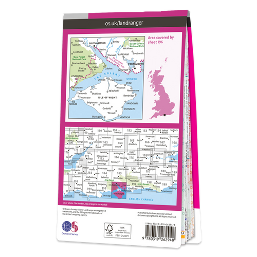 Map of The Solent & Isle of Wight