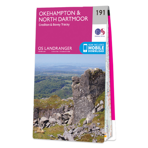 Map of Okehampton & North Dartmoor