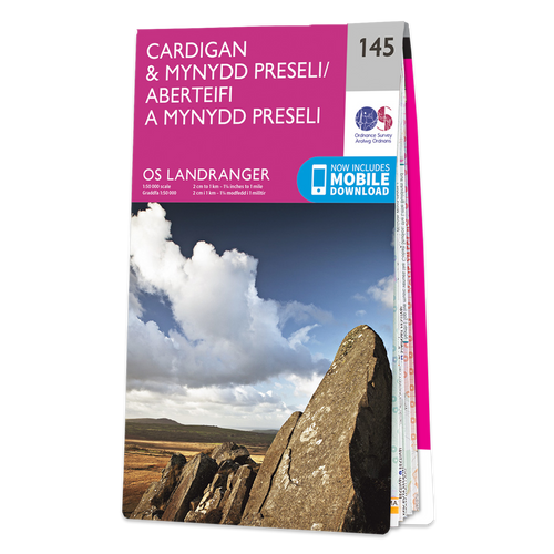 Map of Cardigan & Mynydd Preseli
