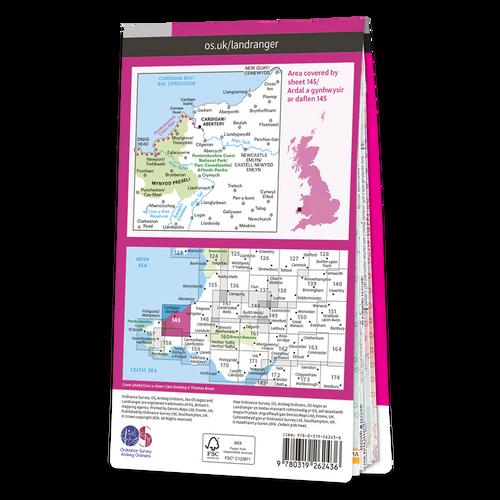 Map of Cardigan & Mynydd Preseli