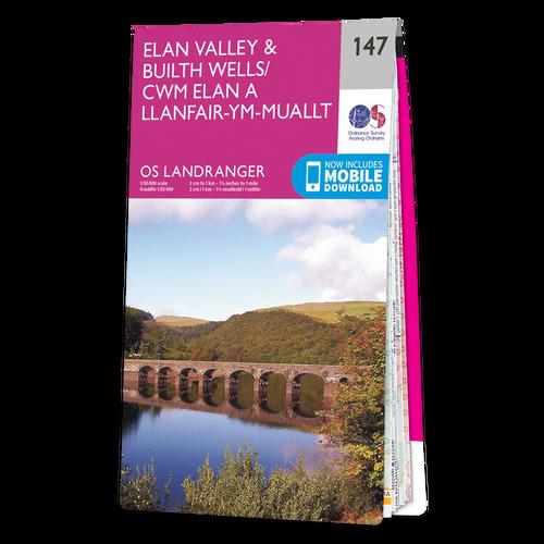 Map of Elan Valley & Builth Wells