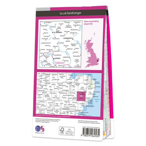 Map of Bury St Edmunds
