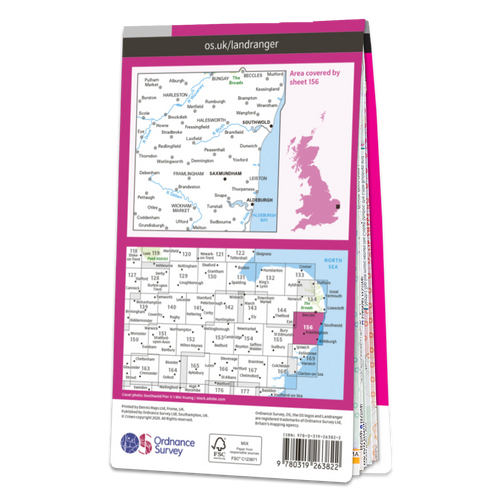 Map of Saxmundham, Aldeburgh & Southwold