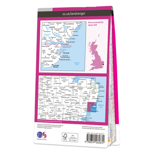 Map of Ipswich & The Naze