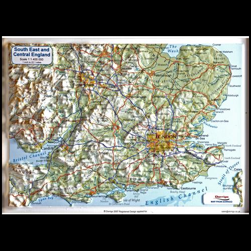 Dorrigo A4 3D Map of SE England
