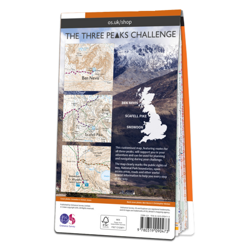 Map of Three Peaks Challenge Map