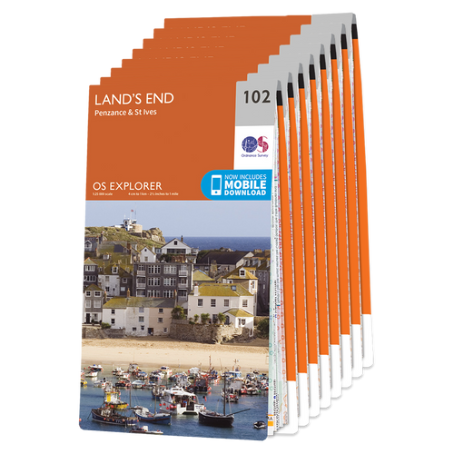 OS Explorer Cornwall map set - standard version