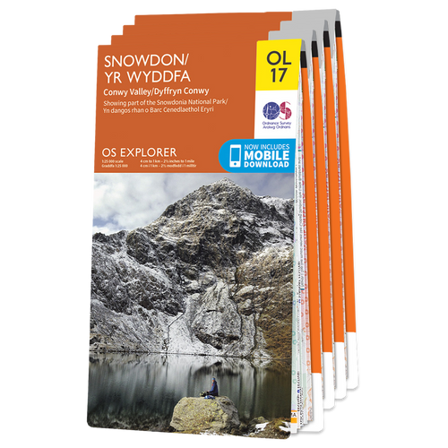 OS Explorer Welsh Coast Northern Area (incl. Anglesey) map set