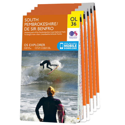 OS Explorer Welsh Coast South Western Area map set