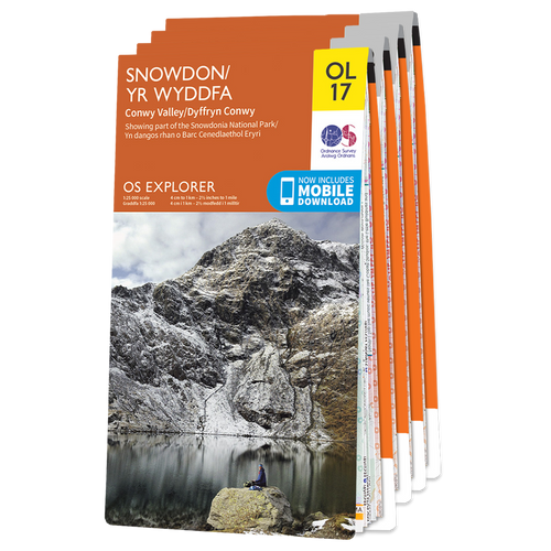 OS Explorer Welsh Coast Northern (excl. Anglesey) map set