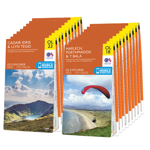 OS Explorer Welsh Coast map set