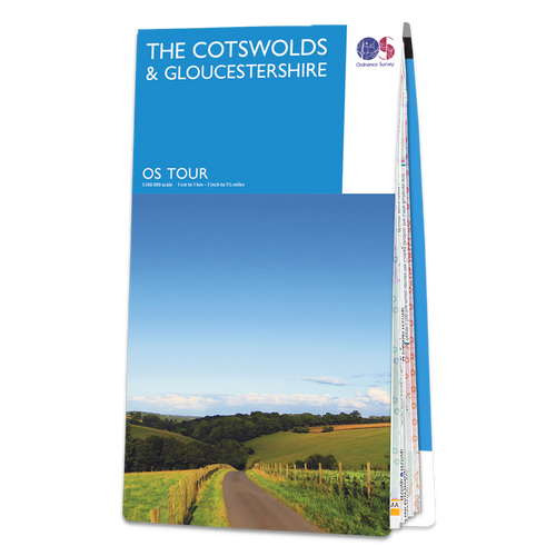Map of The Cotswolds & Gloucestershire