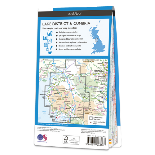 Map of Lake District & Cumbria
