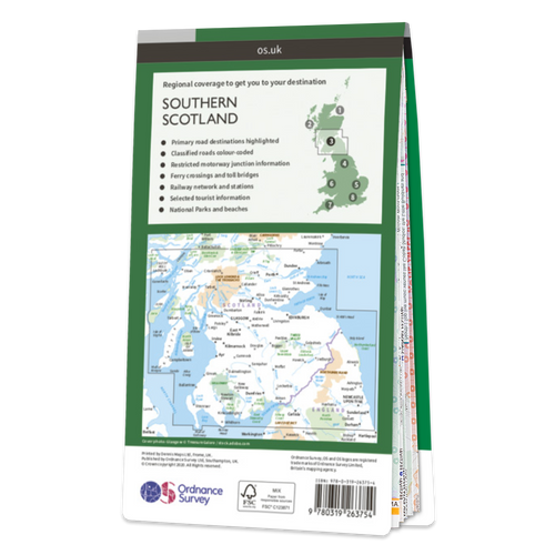 Map of Southern Scotland