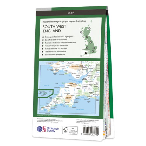 Map of South West England